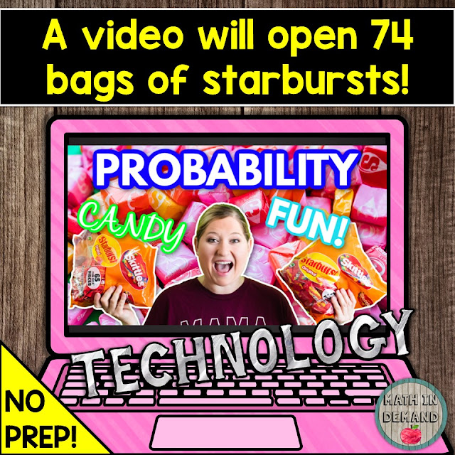 Probability with Starbursts Activity in Google Slides Distance Learning