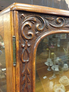 Antique furniture, Antique China cabinet bowfront.