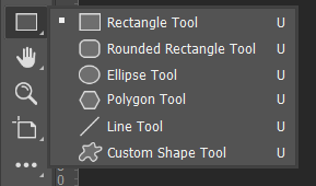 Shapes Tool Toolbox Adobe Photoshop