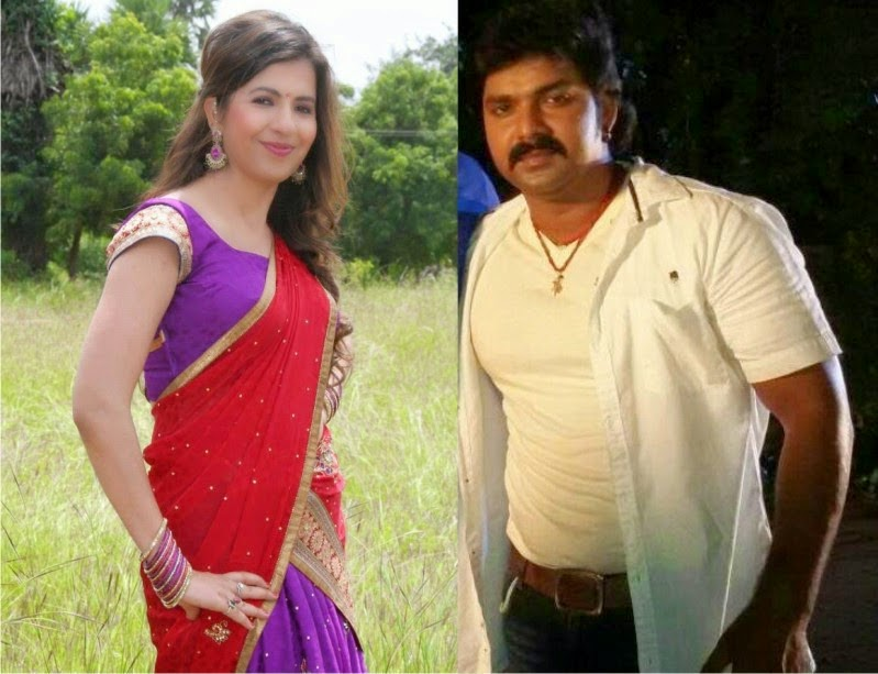 Pawan Singh and Khyati together in Movie 'Maryada Mangalsutra Ki'