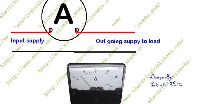 how to wire ammeter for dc and ac ampere measurement Amp Meter Shunt Diagram
