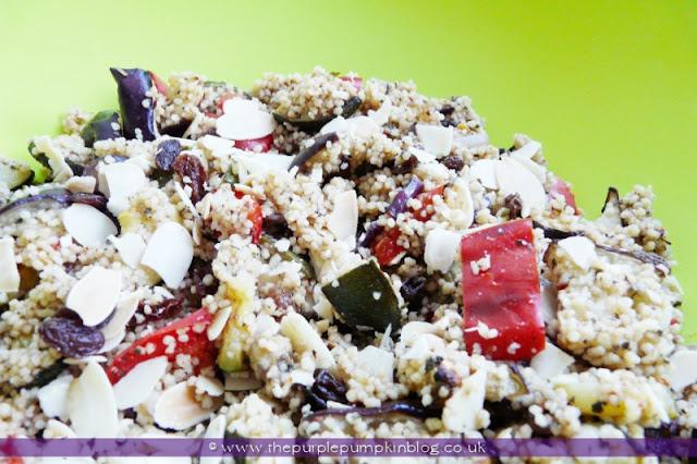 Spicy Cous Cous Salad at The Purple Pumpkin Blog