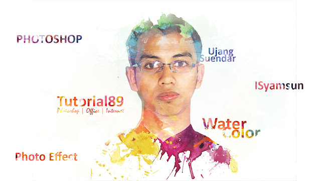 Cara membuat efek waterColor dengan photoshop + Video
