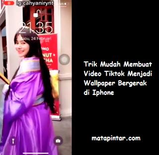 Cara Membuat Video Tiktok Jadi Wallpaper Bergerak di Iphone