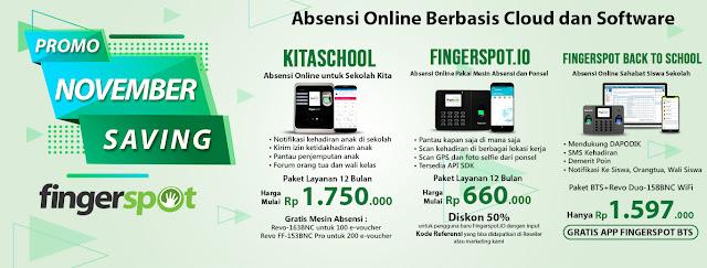 Promo Layanan Absensi Online  Fingerspot Nopember 2019