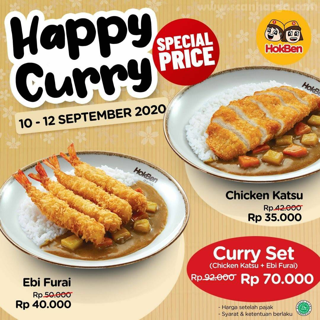 Promo HOKBEN Special Price Happy Curry Periode 10 - 12 September 2020