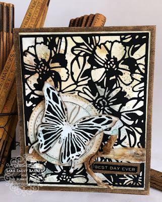 Sara Emily Barker https://sarascloset1.blogspot.com #timholtz #sizzix #flowery #scribblybutterflies 4