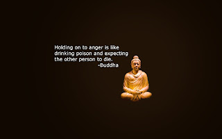 Buddha meditation image with quotes on anger