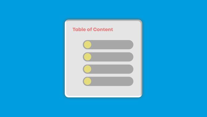 Pentingnya Menggunakan ToC (Table of Content) di Blog