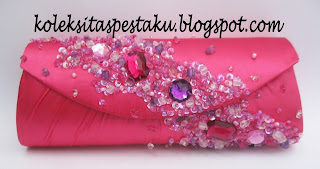 Pink Fanta Tas Pesta Mewah Elegant