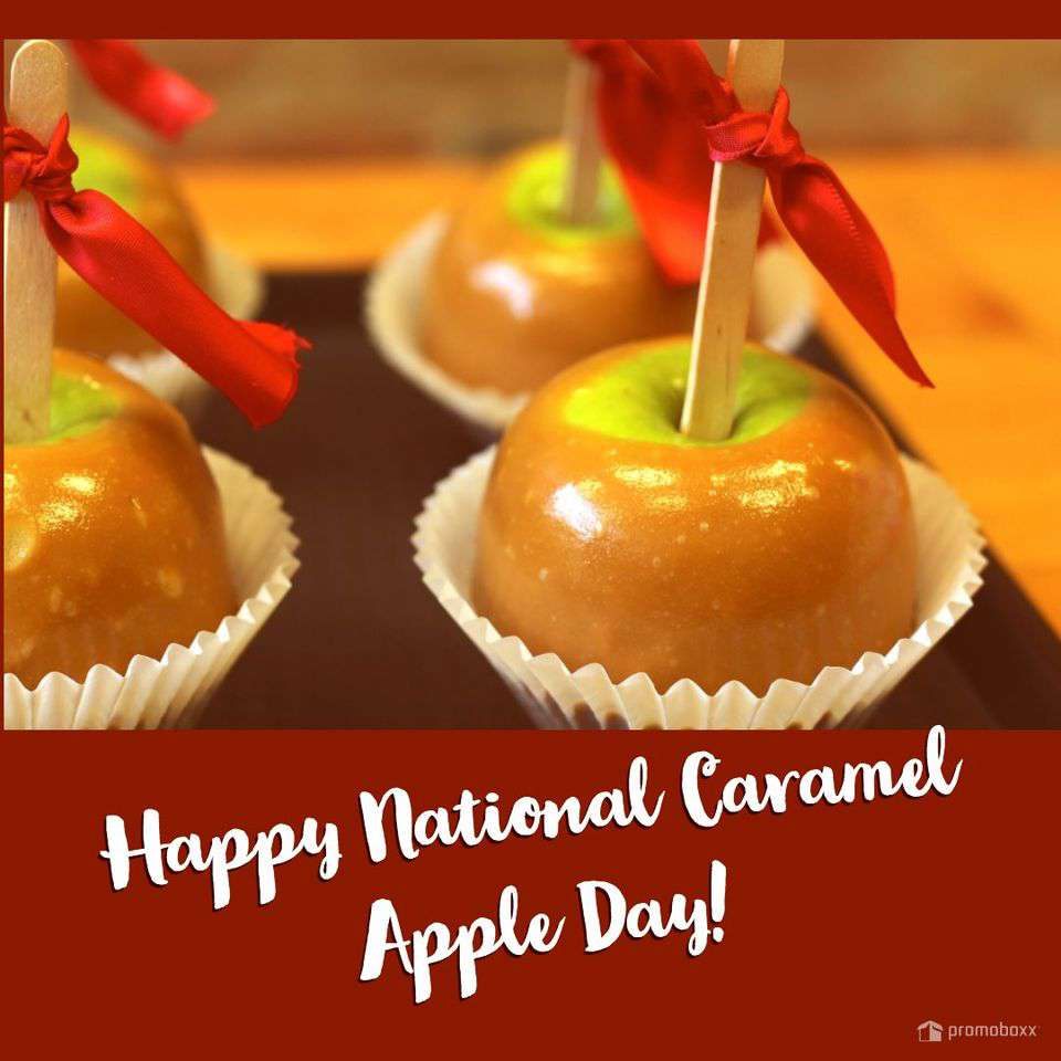 National Caramel Apple Day Wishes Beautiful Image