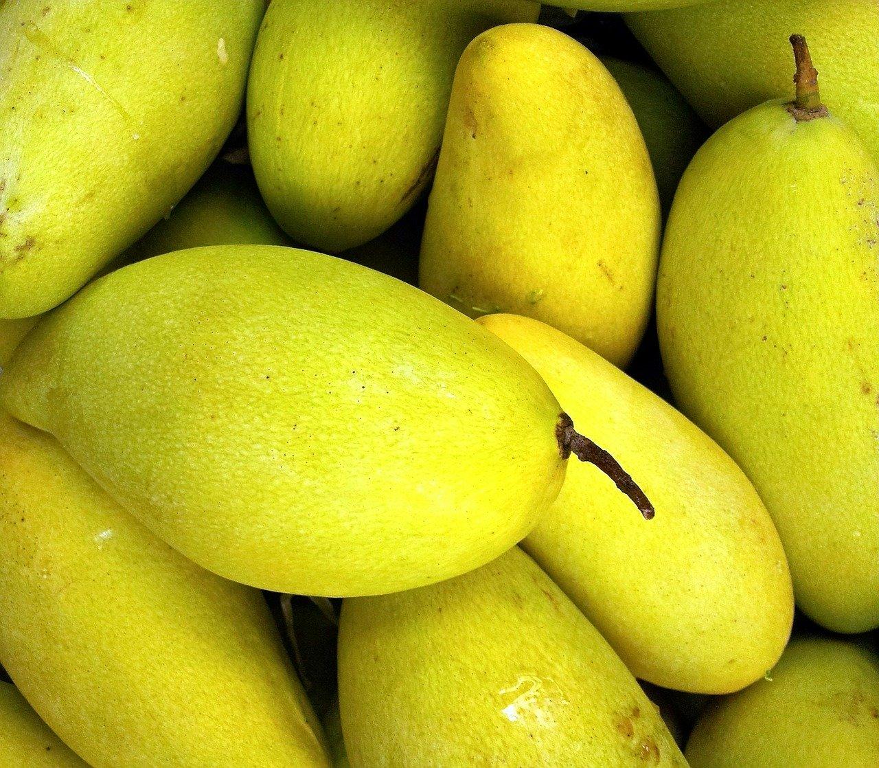 Yellowish fresh mango fruit
