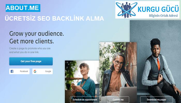 About.me'den Ücretsiz SEO Backlink Alma Yöntemleri - Kurgu Gücü