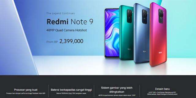 Spesifikasi lengkap Redmi Note 9