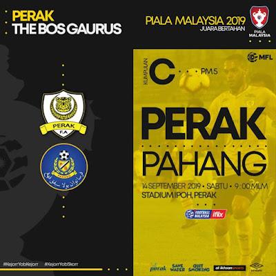 Live Streaming Perak vs Pahang (Piala Malaysia) 14.9.2019