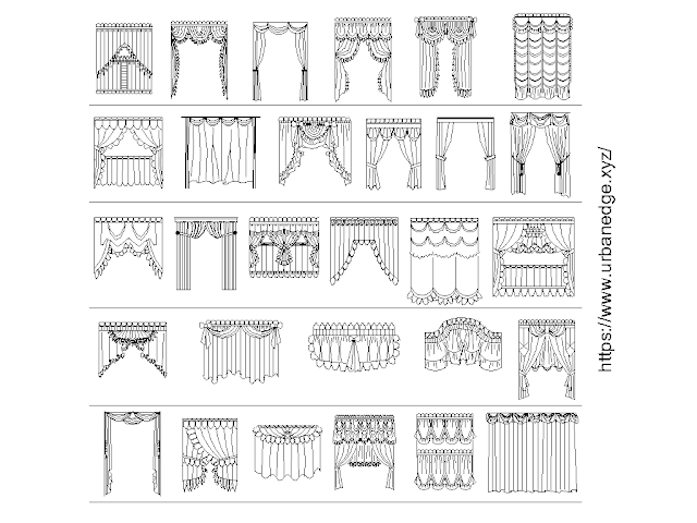 Curtains free cad blocks download - 30+ Dwg Models
