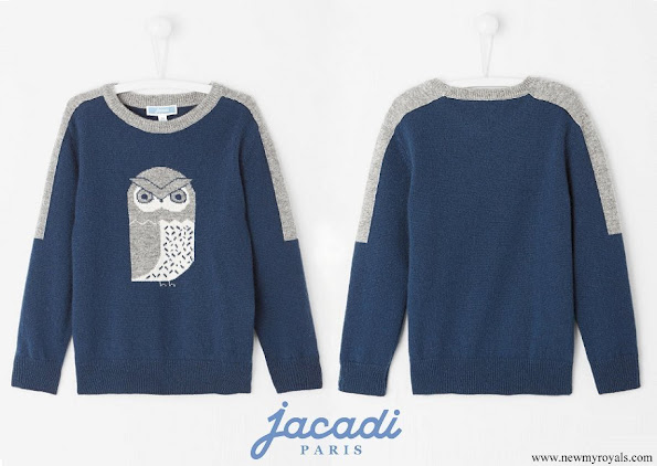 Prince Alexander wearing a blue sweater by Jacadi Paris