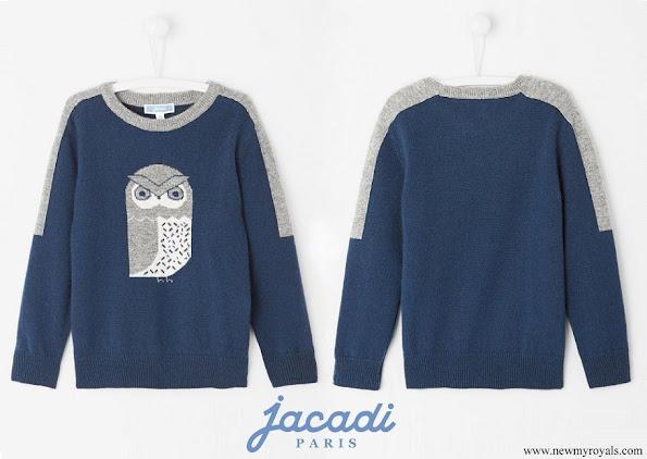Prince Alexander wearing a blue sweater by Jacadi Paris