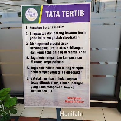 Tata tertib Perpustakaan Masjid Agung Surabaya