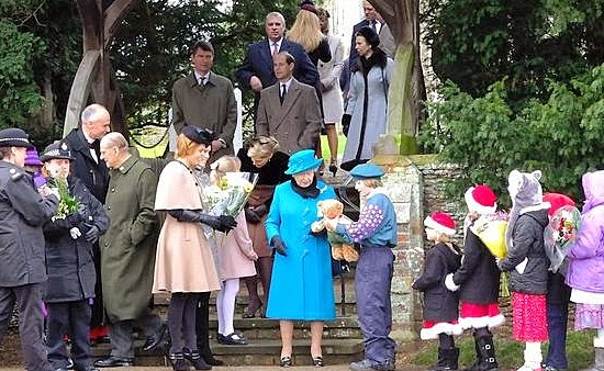 Rainha Elizabeth em Sandringham