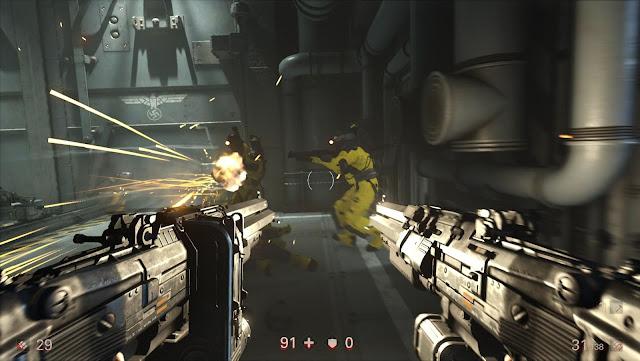إستعراض بالفيديو لمقارنة لعبة Wolfenstein 2 على جهاز PS4 Pro و PS4 تم Xbox One