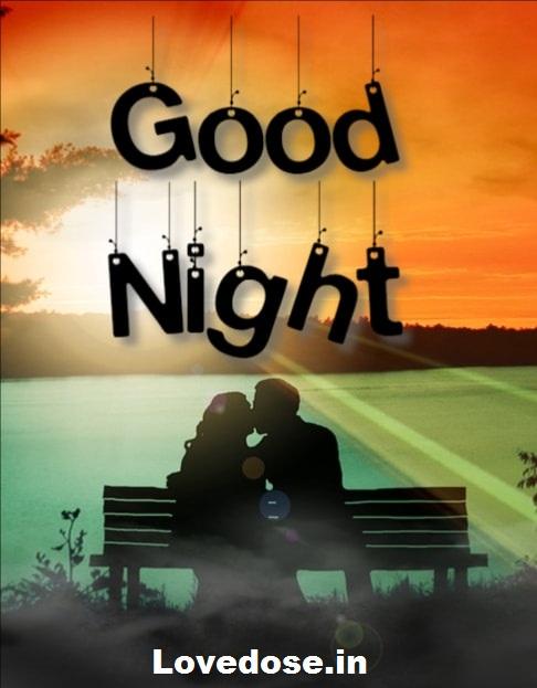 Heart touching good night love image