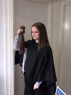 Ellie Bate donates her hair to The Little Princess Trust