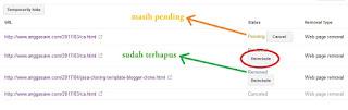 Cara Menghapus Blog/Artikel Yang Sudah Terindex DI Google