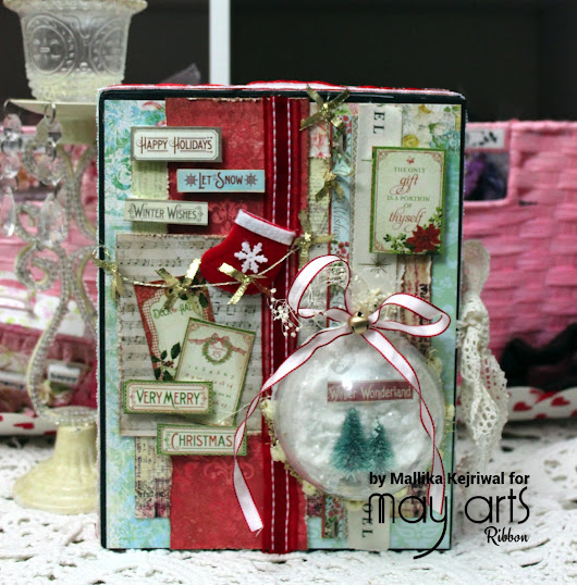 Christmas Crafting with ribbons - Gift Wrap