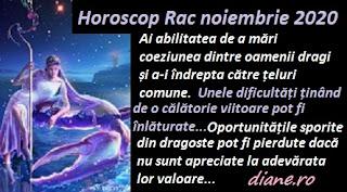 Horoscop Rac noiembrie 2020