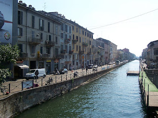 Milan's own 'Grand Canal' - part of the now fashionable Navigli district, where Pinelli grew up