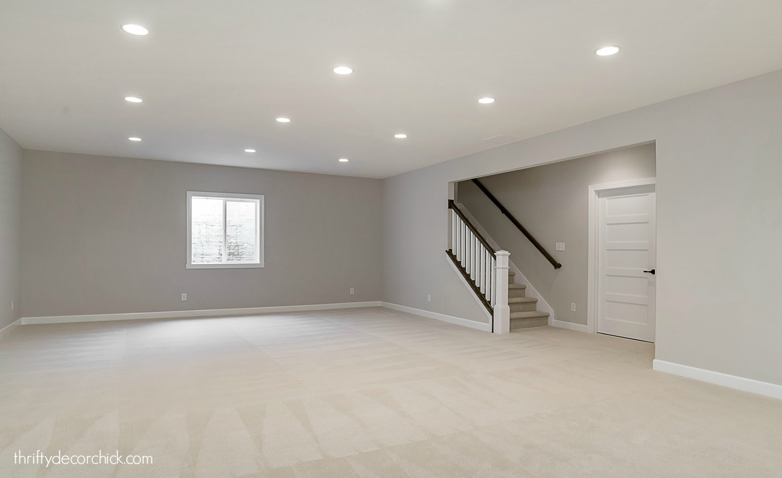 Open basement family room
