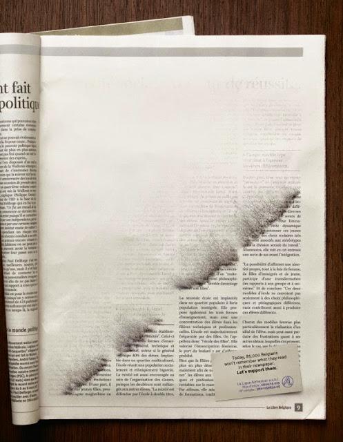 Anuncios publicitarios en diarios o periódicos -creatividad y publicaciones