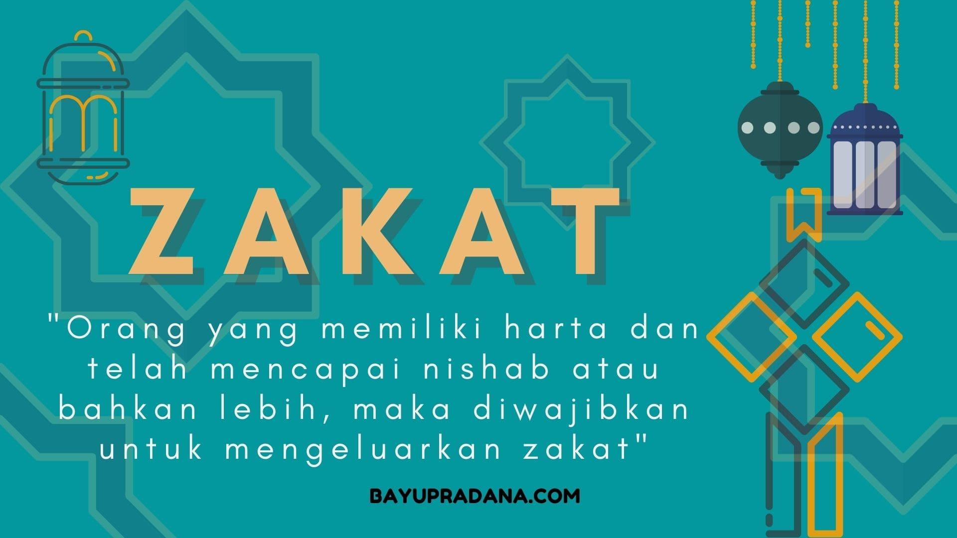 Definisi Zakat, Jenis-Jenis Zakat, Besaran Zakat dan Golongan Penerima Zakat