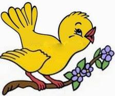 Pajarito amarillo del jardín de soles