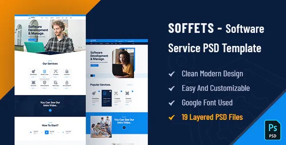 Best Software and IT Service PSD Template