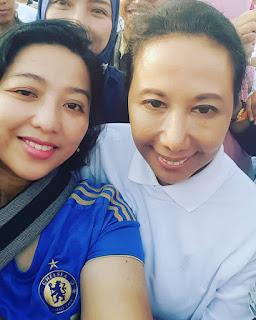 aku bisa berswafoto bareng Menteri BUMN, Ibu Rini M.Sumarno.