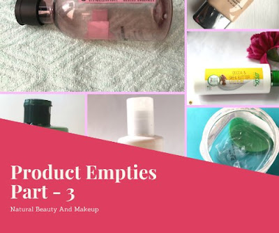 skincare and makeup product empties part 3 on Natural Beauty And Makeup blog