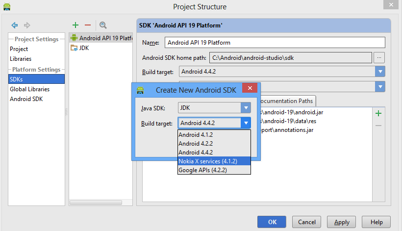 Nokia X Developer Tools Installing and configuring in Android Studio
