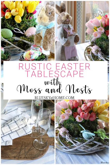 Rustic Easter tablescape