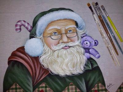 Resultado de imagem para papai noel em pintura