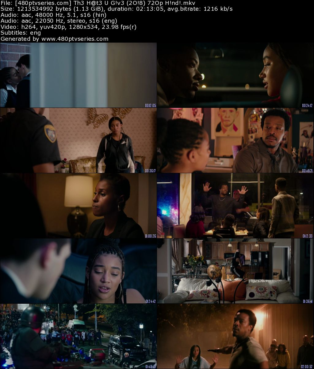 Download The Hate U Give (2018) 1GB Full Hindi Dual Audio Movie Download 720p Bluray Free Watch Online Full Movie Download Worldfree4u 9xmovies