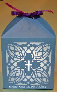 Christian cross tealight lantern