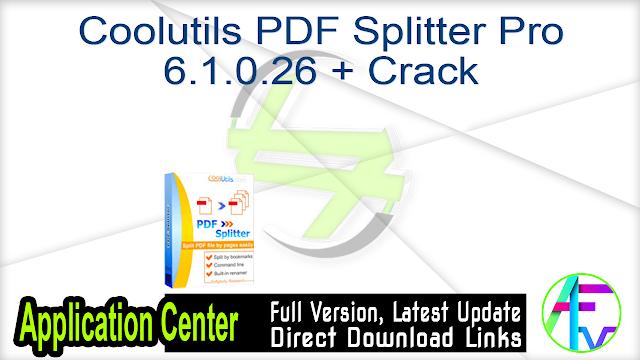 Coolutils PDF Splitter Pro 6.1.0.26 + Crack