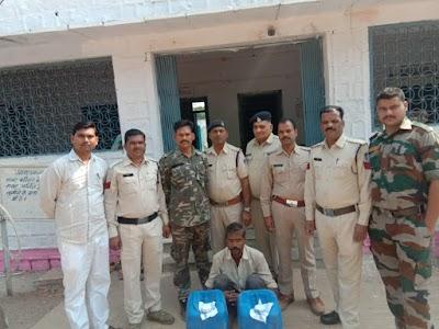 बैराड़ पुलिस ने अबैध शराब के साथ एक आरोपी को पकड़ा   Bairad News