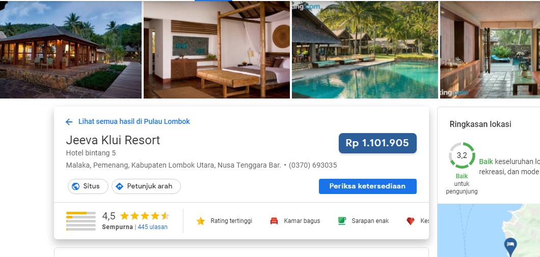 Honeymoon Resort di Lombook