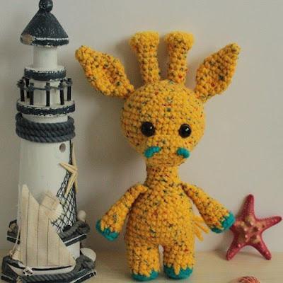 Жираф амигуруми крючком