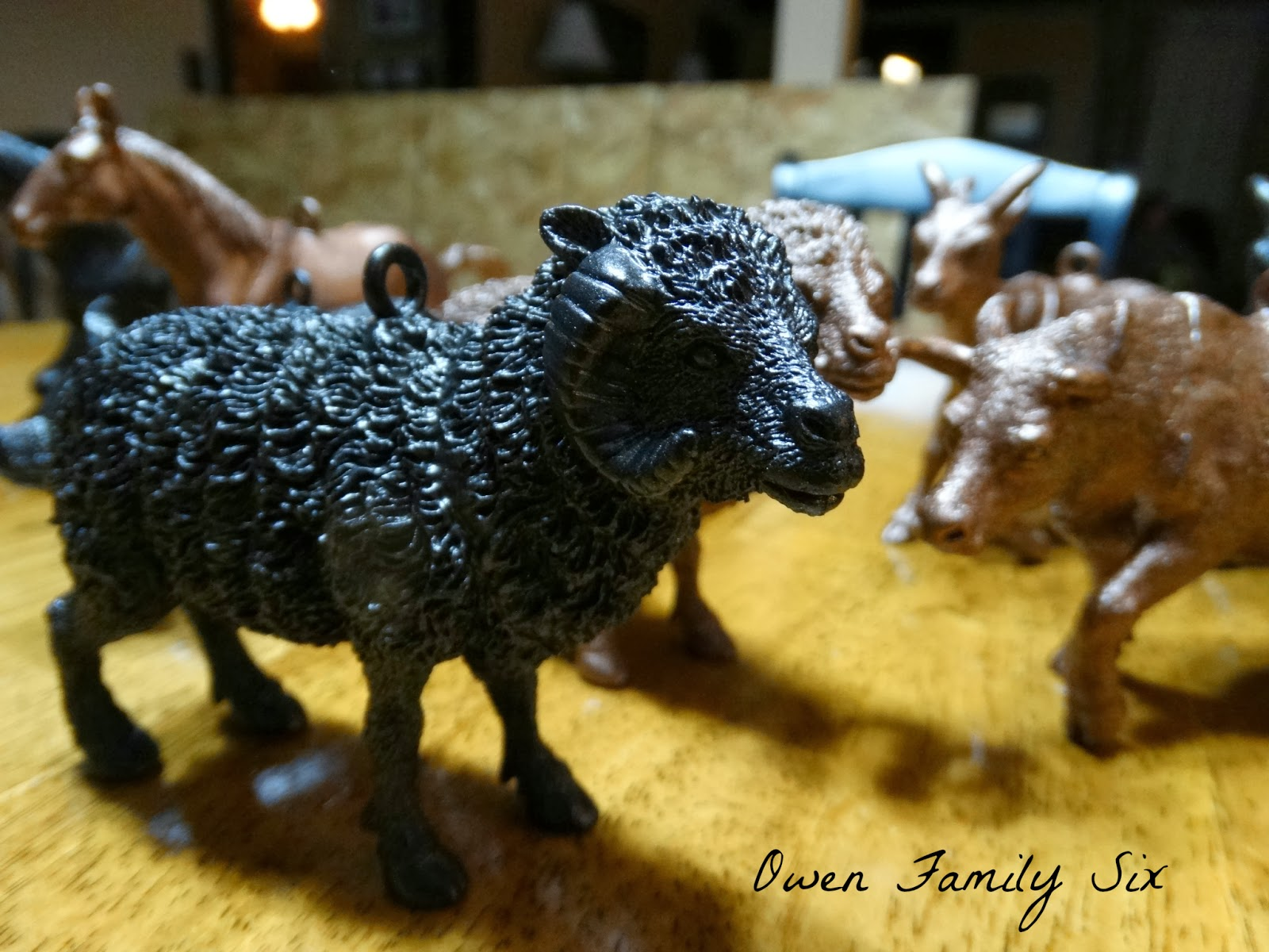 Owen Family Six: Plastic Animal Ornaments