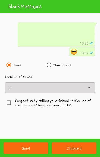 Blank message generator