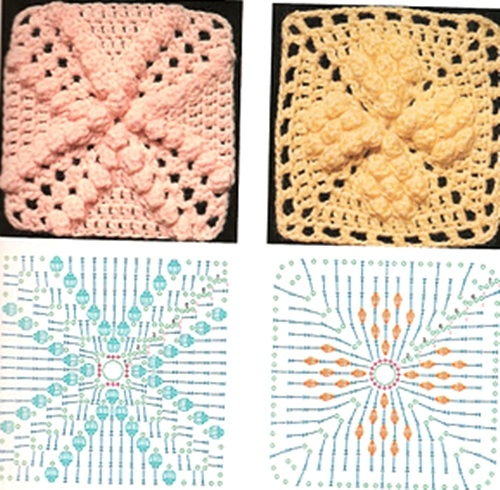Trico Y Crochet Madona Mía Gráficos A Crochet Ganchillos Cuadrados